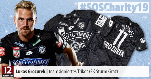Teamsigniertes Trikot Von Sturm Graz Weihnachts Charity 2019 12termann