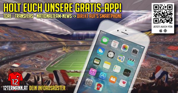 Begleitservice für Österreich-Fans – die 12terMann-App