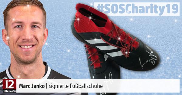 Signierte Fußballschuhe von Marc Janko – Weihnachts-Charity