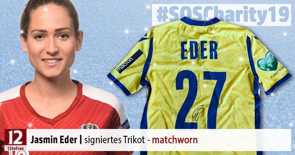 Signiertes Trikot (matchworn) von Jasmin Eder – Weihnachts-Charity