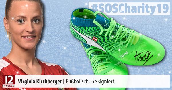 Signierte Fußballschuhe von Virginia Kirchberger – Weihnachts-Charity