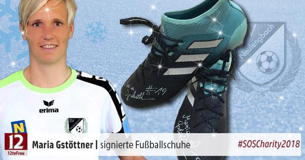 Signierte Fußballschuhe von Maria Gstöttner – Weihnachts-Charity