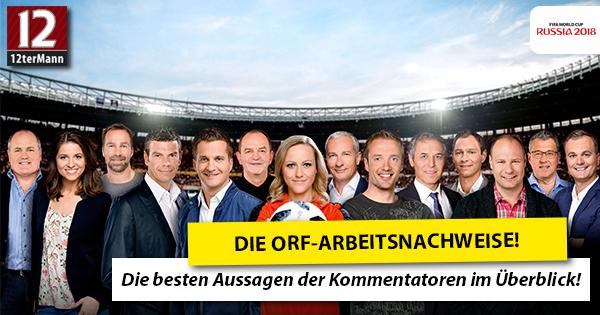 Die Arbeitsnachweise der ORF-Sportreporter im Überblick