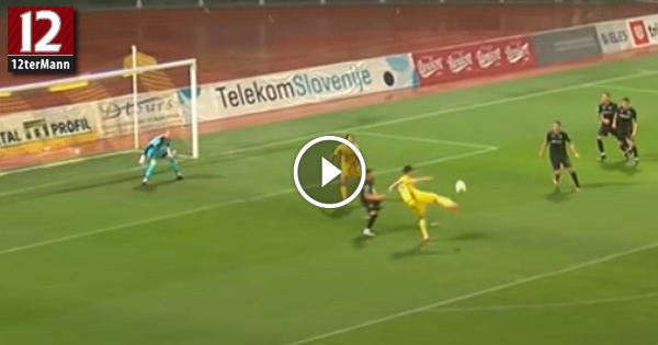 VIDEO: Volley-Tor von Arnel Jakupovic für NK Domzale